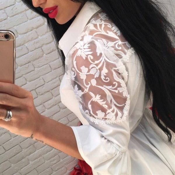 Купить Платье - поло белого цвета цена