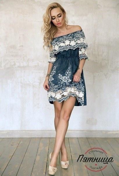 Купить Платье летнее с кружевом цена