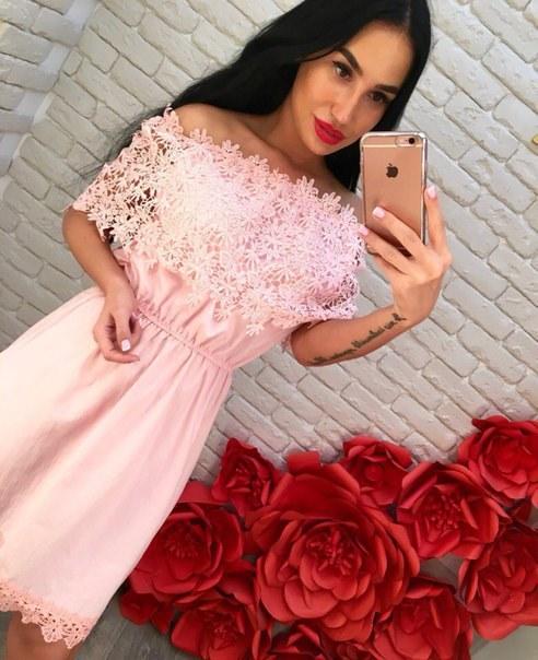 Купить Летнее платье с кружевом цена