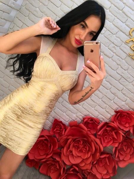 Купить Короткое бандажное платье без рукавов цена