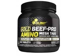Gold Beef pro amino mega tabs 300 табл фото видео изображение