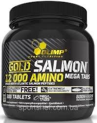 Gold Salmon 12000 amino mega tabs 300 табл фото видео изображение