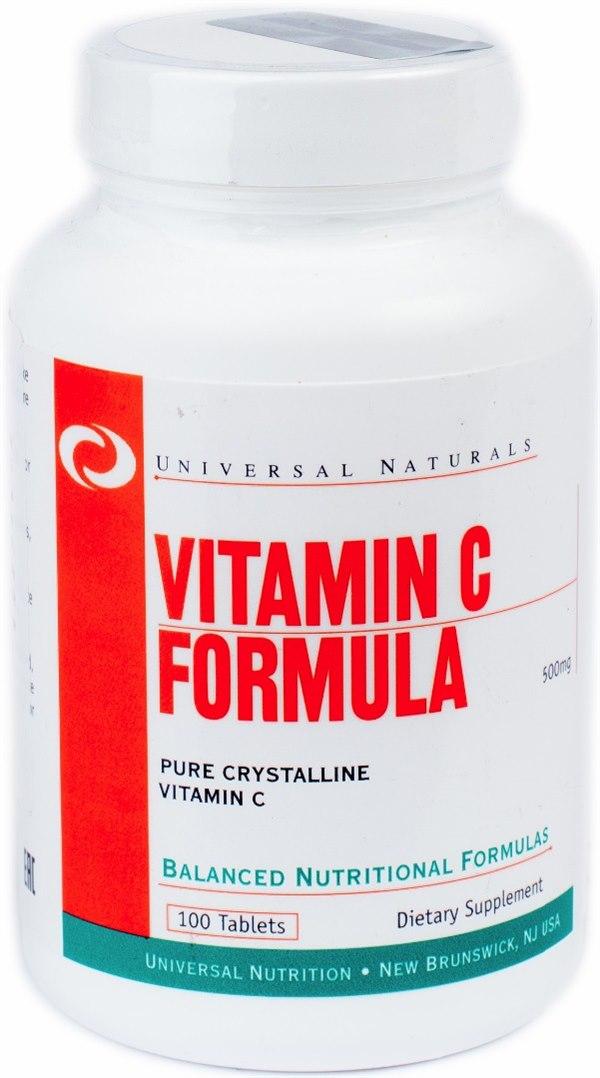 Купить Vitamin C Formula (500mg) 100 табл цена