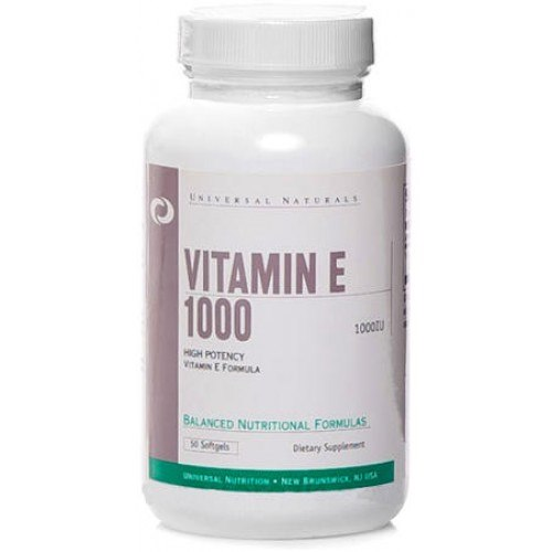 Купить Vitamin E 1000 (1000iu) 50 softgels цена