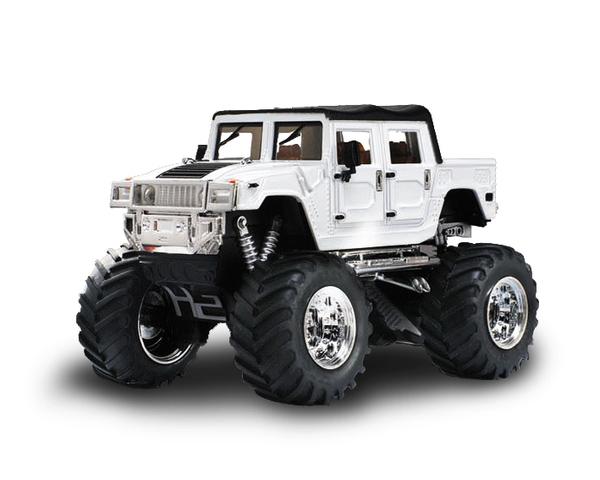 Джип микро р/у 1:43 Hummer (белый)
