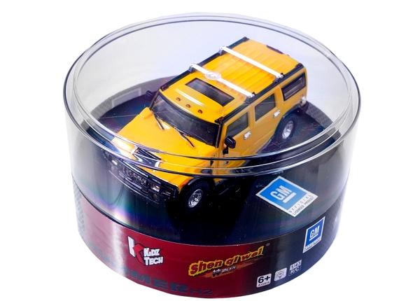 Машинка микро р/у 1:43 лиценз. Hummer H2 (желтый) фото видео изображение