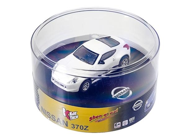 Машинка микро р/у 1:43 лиценз. Nissan 370Z (белый) фото видео изображение
