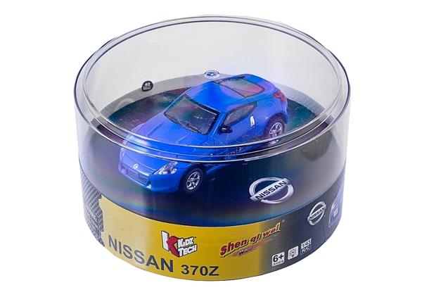 Машинка микро р/у 1:43 лиценз. Nissan 370Z (синий) фото видео изображение