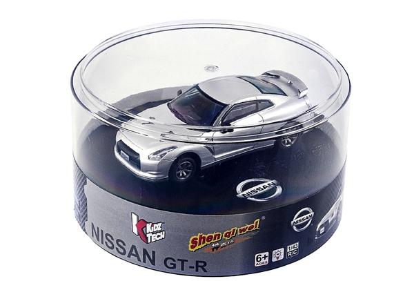Машинка микро р/у 1:43 лиценз. Nissan GT-R (серый) фото видео изображение