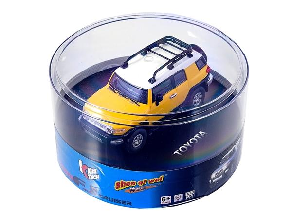 Машинка микро р/у 1:43 лиценз. Toyota FJ (желтый) фото видео изображение