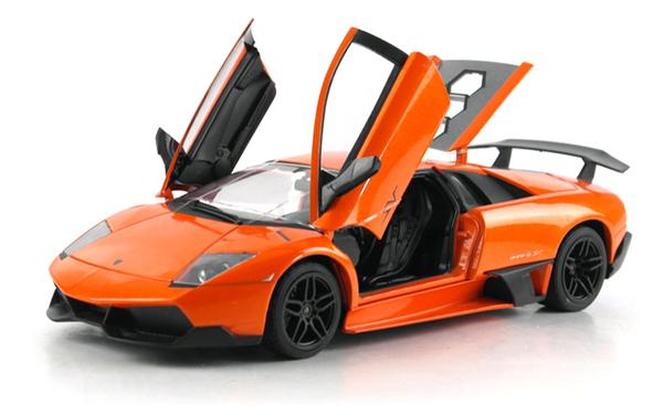 Машинка р/у 1:18 Meizhi лиценз. Lamborghini LP670-4 SV металлическая (оранжевый) фото видео изображение