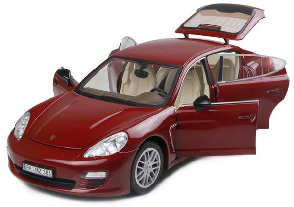 Машинка р/у 1:18 Meizhi лиценз. Porsche Panamera металлическая (красный) фото видео изображение