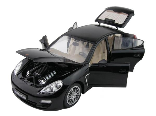 Машинка р/у 1:18 Meizhi лиценз. Porsche Panamera металлическая (черный) фото видео изображение