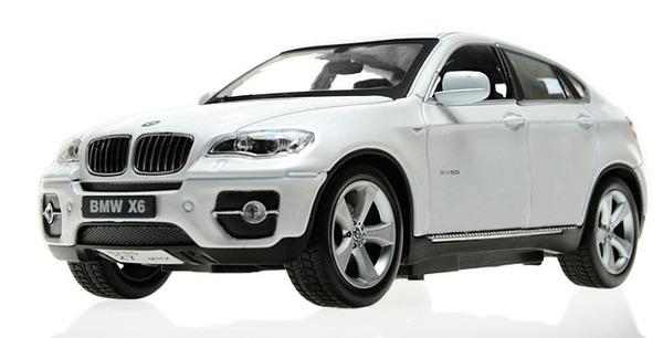 Машинка р/у 1:24 Meizhi лиценз. BMW X6 металлическая (белый) фото видео изображение