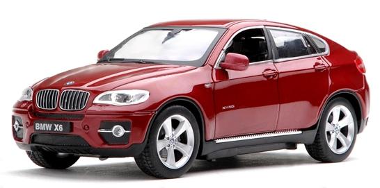Машинка р/у 1:24 Meizhi лиценз. BMW X6 металлическая (красный) фото видео изображение