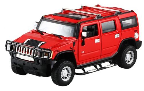 Машинка р/у 1:24 Meizhi лиценз. Hummer H2 металлическая (красный) фото видео изображение