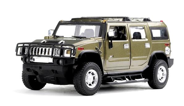 Машинка р/у 1:24 Meizhi лиценз. Hummer H2 металлическая (темно-зеленый) фото видео изображение