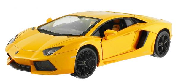 Машинка р/у 1:24 Meizhi лиценз. Lamborghini LP700 металлическая (желтый) фото видео изображение