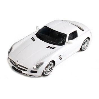 Машинка р/у 1:24 Meizhi лиценз. Mercedes-Benz SLS AMG металлическая (белый) фото видео изображение