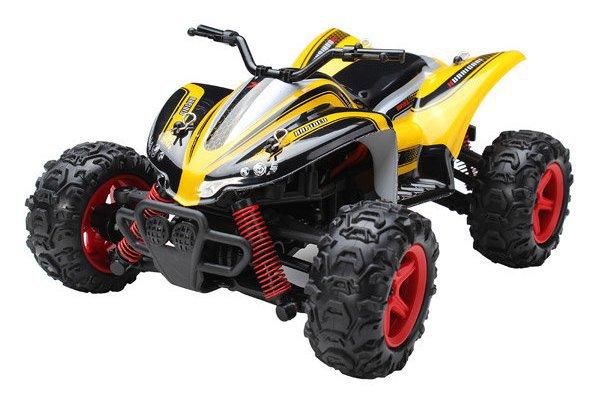 Машинка р/у 1:24 Subotech CoCo Квадроцикл 4WD 35 км/час (желтый) фото видео изображение