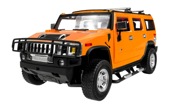 Машинка р/у 1:14 Meizhi лиценз. Hummer H2 (желтый) фото видео изображение