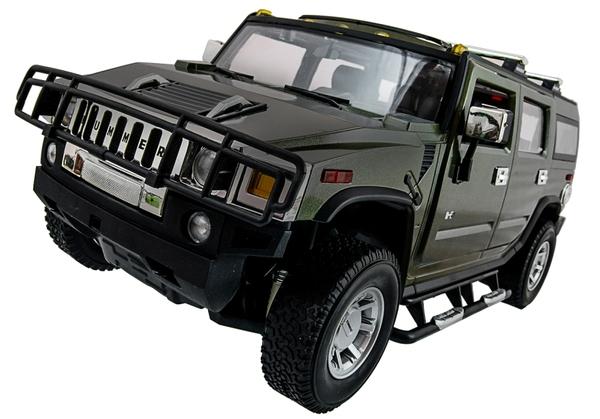 Машинка р/у 1:14 Meizhi лиценз. Hummer H2 (зеленый) фото видео изображение