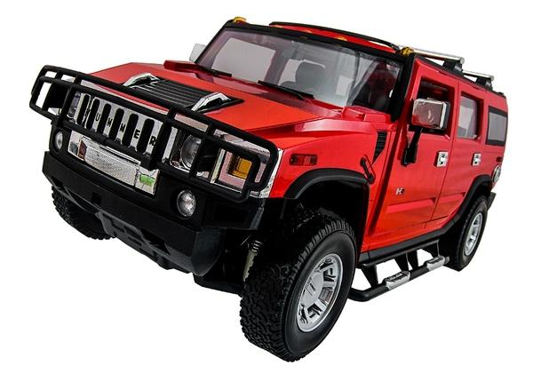 Машинка р/у 1:14 Meizhi лиценз. Hummer H2 (красный) фото видео изображение