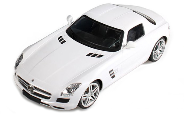 Машинка р/у 1:14 Meizhi лиценз. Mercedes-Benz SLS AMG (белый) фото видео изображение