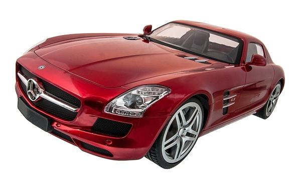 Машинка р/у 1:14 Meizhi лиценз. Mercedes-Benz SLS AMG (красный) фото видео изображение