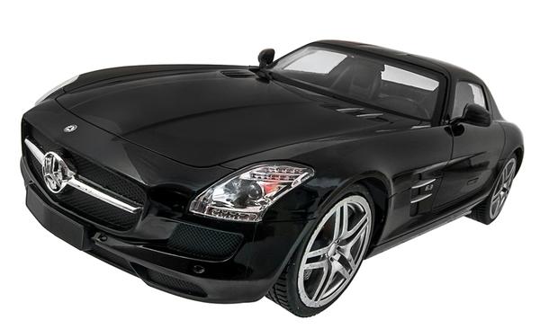 Машинка р/у 1:14 Meizhi лиценз. Mercedes-Benz SLS AMG (черный) фото видео изображение