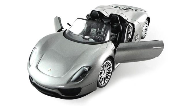 Машинка р/у 1:14 Meizhi лиценз. Porsche 918 (серый) фото видео изображение