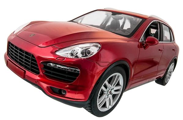 Машинка р/у 1:14 Meizhi лиценз. Porsche Cayenne (красный) фото видео изображение