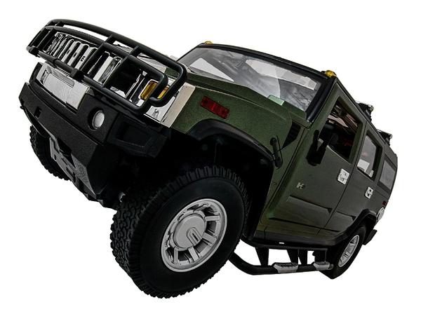 Машинка р/у 1:10 Meizhi лиценз. Hummer H2 (зеленый) фото видео изображение