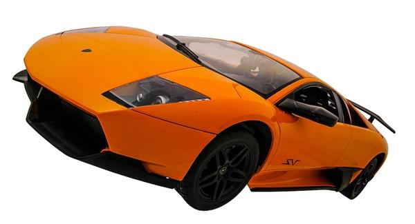 Машинка р/у 1:10 Meizhi лиценз. Lamborghini LP670-4 SV (желтый) фото видео изображение