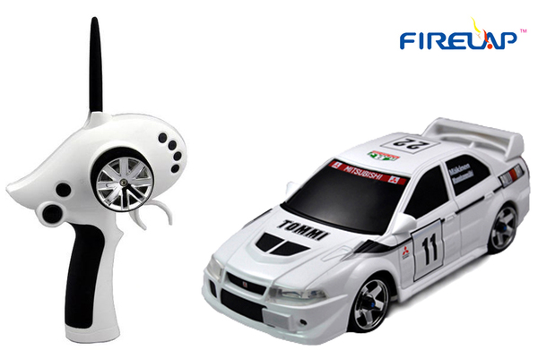 Автомодель р/у 1:28 Firelap IW02M-A Mitsubishi EVO 2WD (белый) фото видео изображение