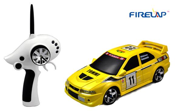 Автомодель р/у 1:28 Firelap IW02M-A Mitsubishi EVO 2WD (желтый) фото видео изображение