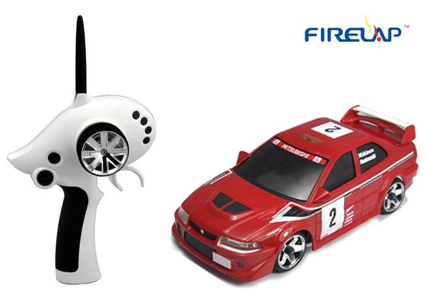 Автомодель р/у 1:28 Firelap IW02M-A Mitsubishi EVO 2WD (красный) фото видео изображение