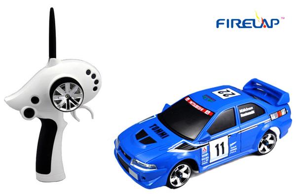 Автомодель р/у 1:28 Firelap IW02M-A Mitsubishi EVO 2WD (синий) фото видео изображение