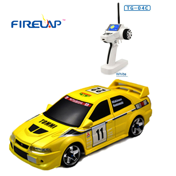 Автомодель р/у 1:28 Firelap IW04M Mitsubishi EVO 4WD (желтый) фото видео изображение