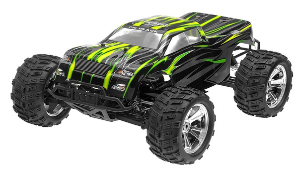 Монстр 1:8 Himoto Raider MegaE8MTL Brushless (зеленый) фото видео изображение