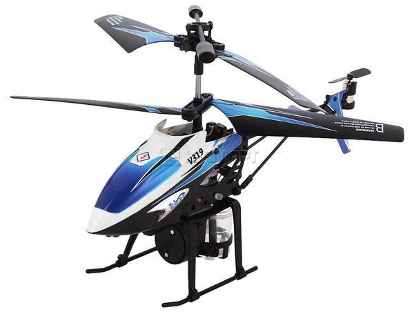 Вертолёт 3-к микро и/к WL Toys V319 SPRAY водяная пушка (синий) фото видео изображение
