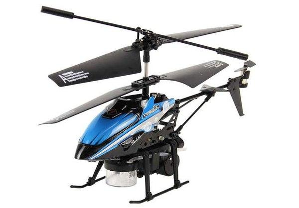 Вертолёт 3-к микро и/к WL Toys V757 BUBBLE мыльные пузыри (синий) фото видео изображение