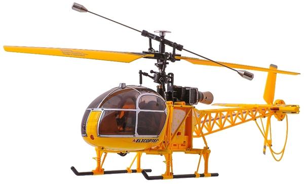 Вертолёт 4-к большой р/у 2.4GHz WL Toys V915 Lama (желтый) фото видео изображение
