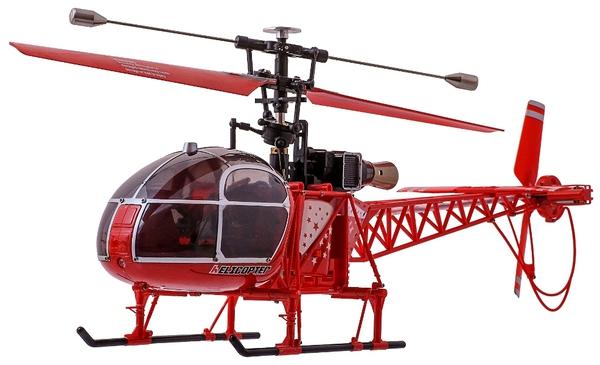 Вертолёт 4-к большой р/у 2.4GHz WL Toys V915 Lama (красный) фото видео изображение