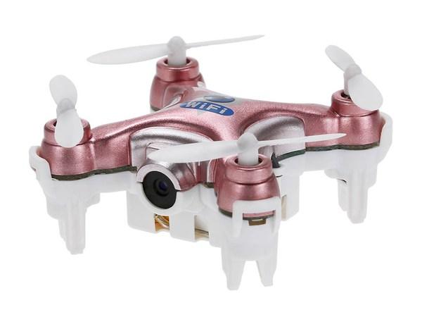 Квадрокоптер нано Wi-Fi Cheerson CX-10W с камерой (розовый) фото видео изображение