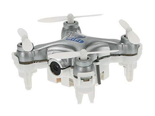 Квадрокоптер нано Wi-Fi Cheerson CX-10W с камерой (серый) фото видео изображение