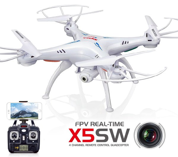 Квадрокоптер р/у Syma X5SW с камерой WiFi (белый) фото видео изображение