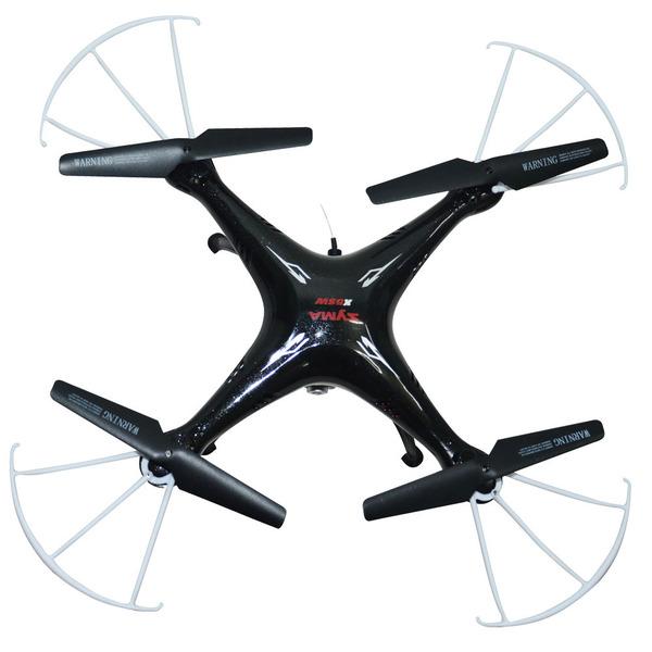 Квадрокоптер р/у Syma X5SW с камерой WiFi (черный) фото видео изображение