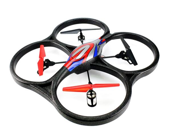 Квадрокоптер большой р/у 2.4GHz WL Toys V262 Cyclone фото видео изображение