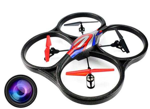 Квадрокоптер большой р/у 2.4GHz WL Toys V262 Cyclone с камерой фото видео изображение